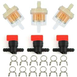 "1/4"" In Line Fuel Gas Filter Shut Cut Off Valves For BRIGGS&"