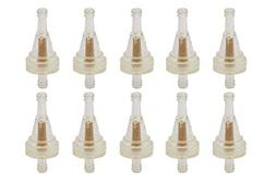 10 Pcs Clear Gas Inline Fuel Filter