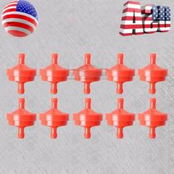 "10 x Lawn Mower 1/4"" Inline Gas Fuel Filter Fits Briggs Stra"