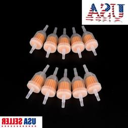 "10Pcs 1/4"" 6mm/8mm Inline Gas Fuel Filter For Small Engine L"