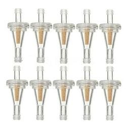 10Pcs 1/4'' Universal Clear Inline Gas Fuel Filter For Golf