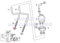 4 x BMW Genuine Fuel Distributor Pressure Regulator Hose Cla
