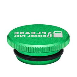 Billet Aluminum Green Fuel Cap for Dodge Ram Cummins with Ma