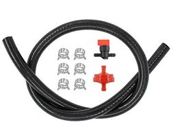 "1/4"" Gas Fuel Line Hose & Filter & Fuel In-Line Shut-Off Val"