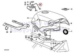 BMW Genuine Motorcycle Fuel Tank/Attaching Parts Petrol Gaug