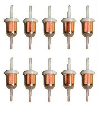 "10 PACK  6MM x 8MM  1/4""  5/16""  INLINE FUEL GAS FILTER  LAW"