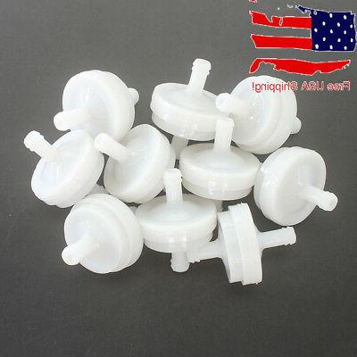 "10x 1/4"" Clear Inline Fuel Gas Filter For Briggs & Stratton"