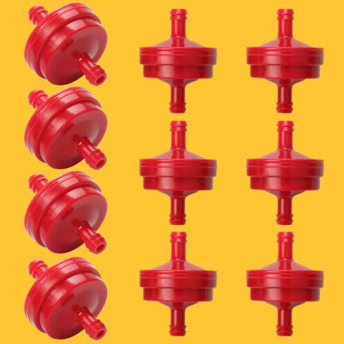 "10x Lawn Mower 1/4"" Inline Gas Fuel Filter Fits Briggs Strat"