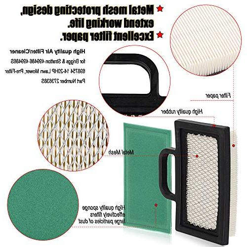 HIFROM 499486 499486S Air Filter with 273638 Filter 493629 Spark Plug Tune-Up 18-26