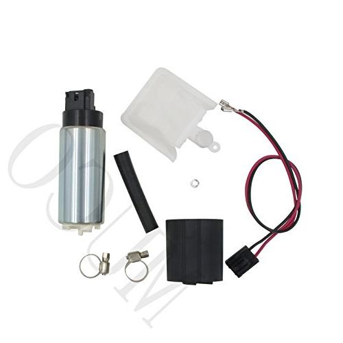 MUCO Flow Electric Fuel Pump with Rubber Steel Connector Harness MCP-203A