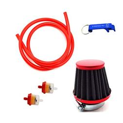 TC-Motor Red 38mm Air Filter Fule Cleaner Gas Line Hose For